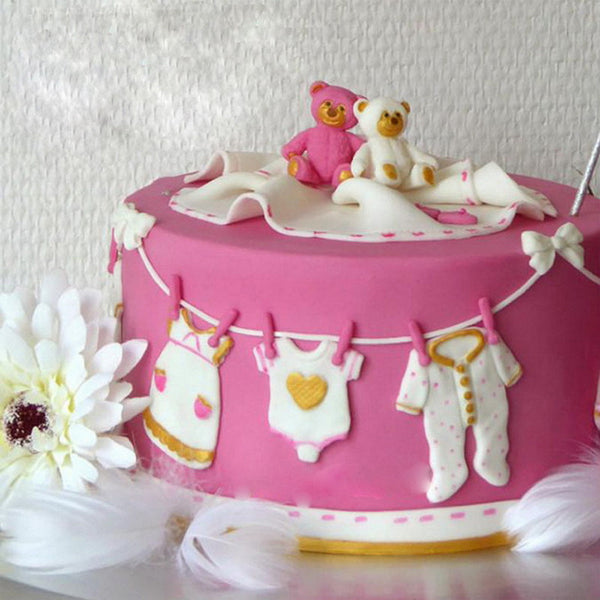 Form for kakepynt babyshower babys shower dåp nettbutikk