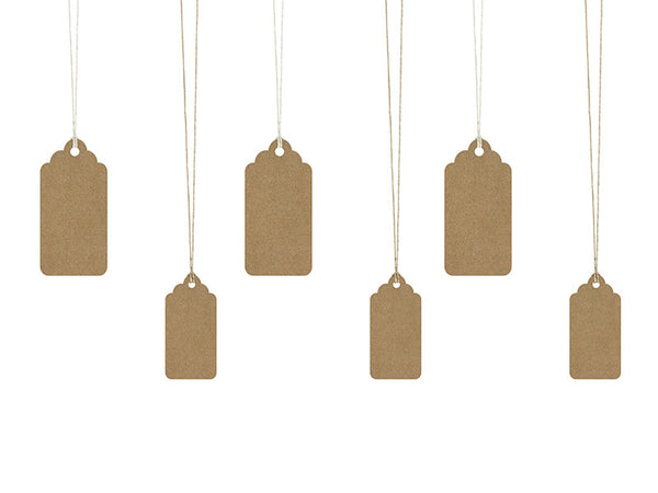 Decorative tags rustikk  (6 stk)