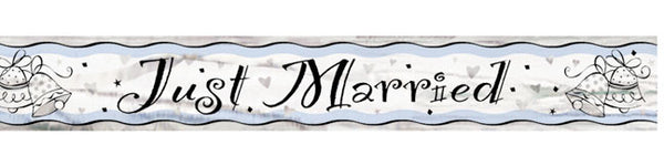 Banner Just Married bryllup