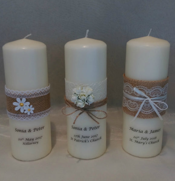 Wedding Candles - Rustic Candle Collections