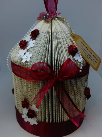 BookArt Birdcage - Burgundy