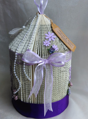 book art, book folding, wedding centrepiece, birdcage, wedding ceremony, personalised,