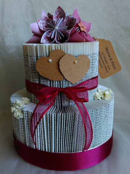 book art, book folding, wedding centrepiece, wedding cake, wedding ceremony, personalised,