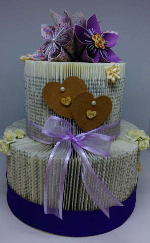 BookArt Wedding Cake - Purple