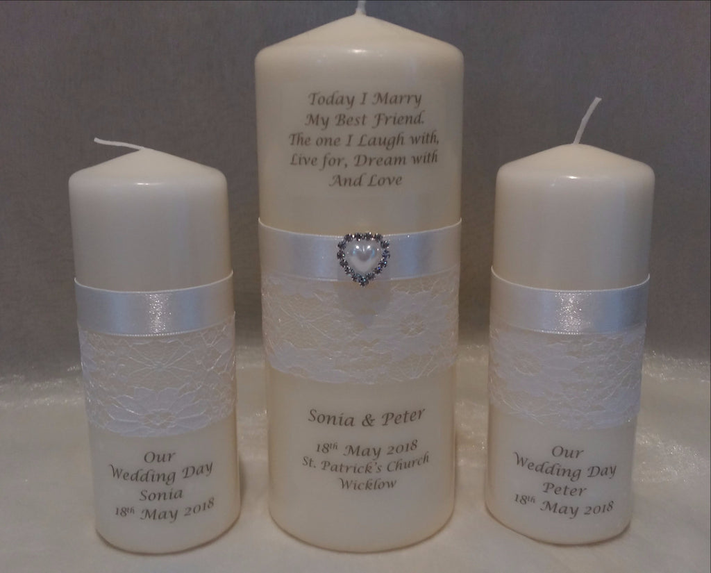 personalised candles my best friend wedding candle for your