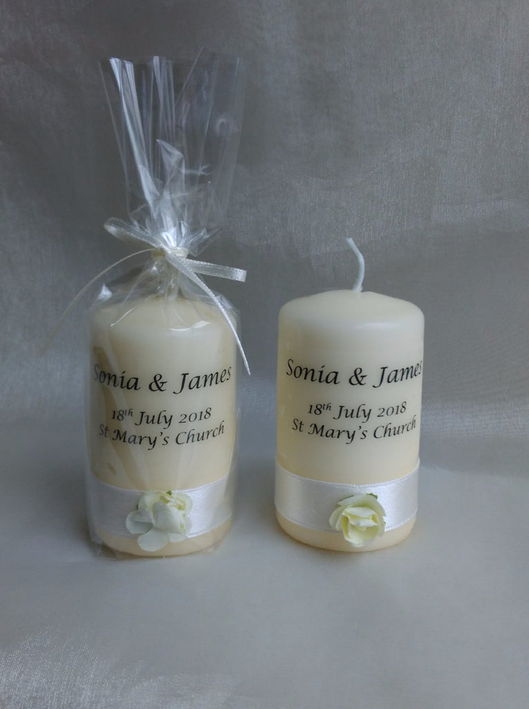 Personalised Candles: Wedding Candle Favours for your Guests