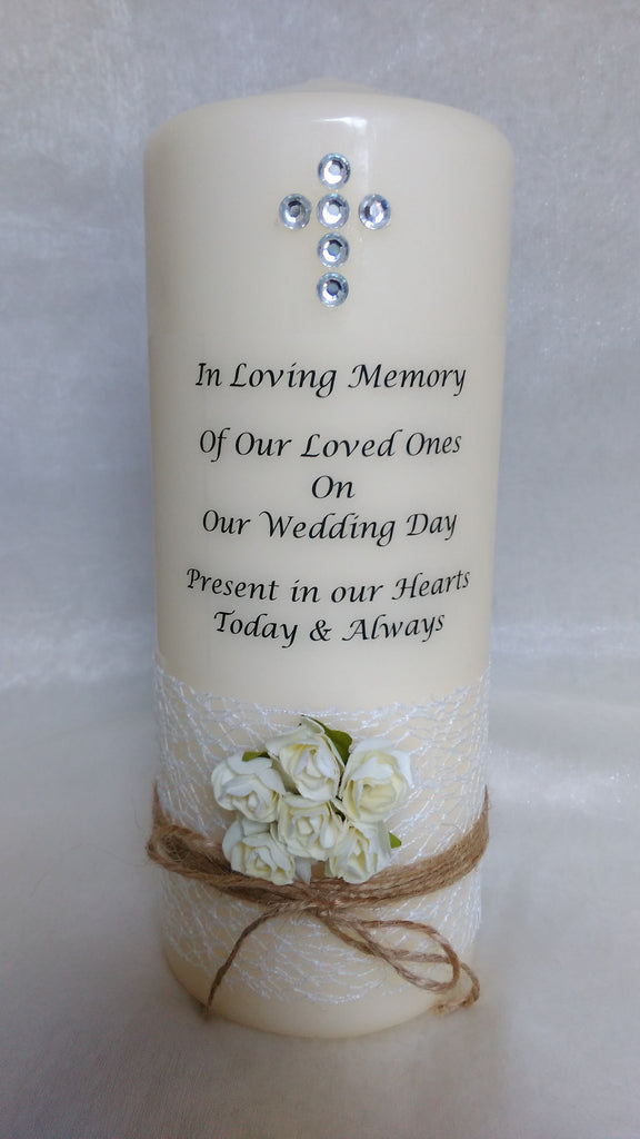 personalised candles, memorial, remembrance, memory
