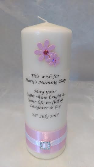 Naming Day Candle - No.3