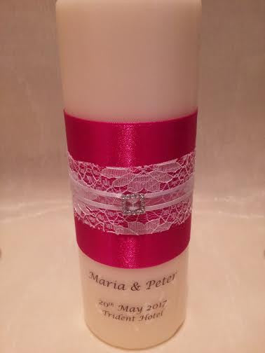 personalised candles, wedding candles, unity candles, wedding ceremony, unity ceremony, wedding candles Ireland