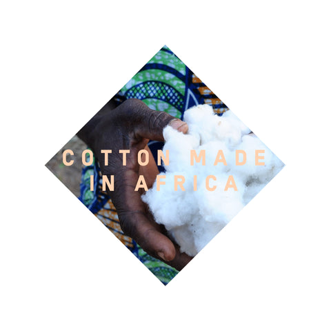 Cotton made in Africa supports small scale African farmers through fair trade, and they supply us with cotton for our indie style clothing collection which comes in African colours.