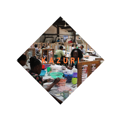 The Fairtrade Kazuri workshop in Nairobi lovingly makes the beads for our pearl necklaces, fancy rings, and pearl earrings. All come in various African colours for the ultimate hippie look.