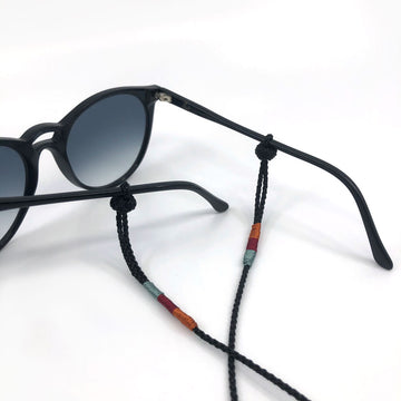 "Sunglass Strap Black Multi  ""Simple"""
