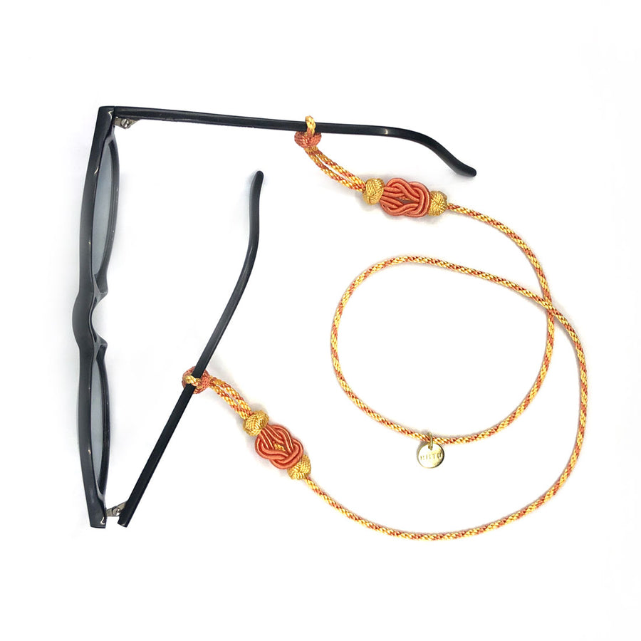 "Sunglass Strap Yellow/Apricot ""Ornament"""