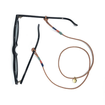 "Sunglass Strap Bronze Multi  ""Simple"""