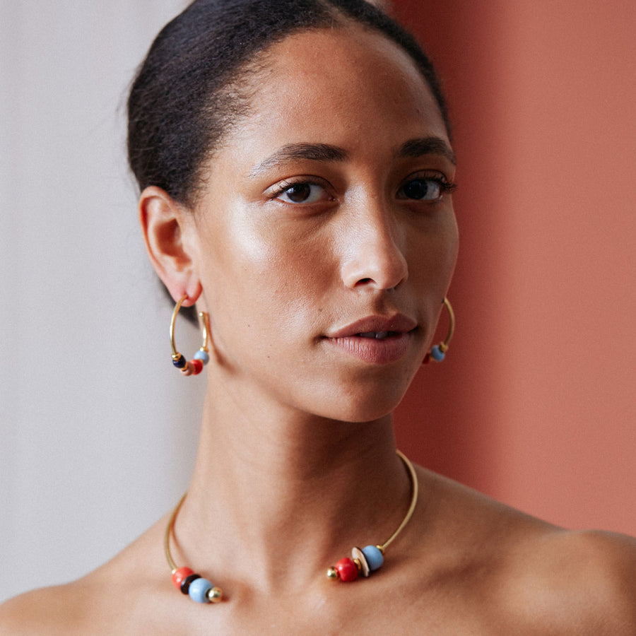 Golden creole earrings - a real piece of African art