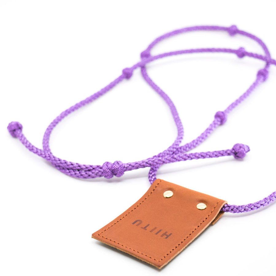 Detachable Phone Necklace Purple Metallic