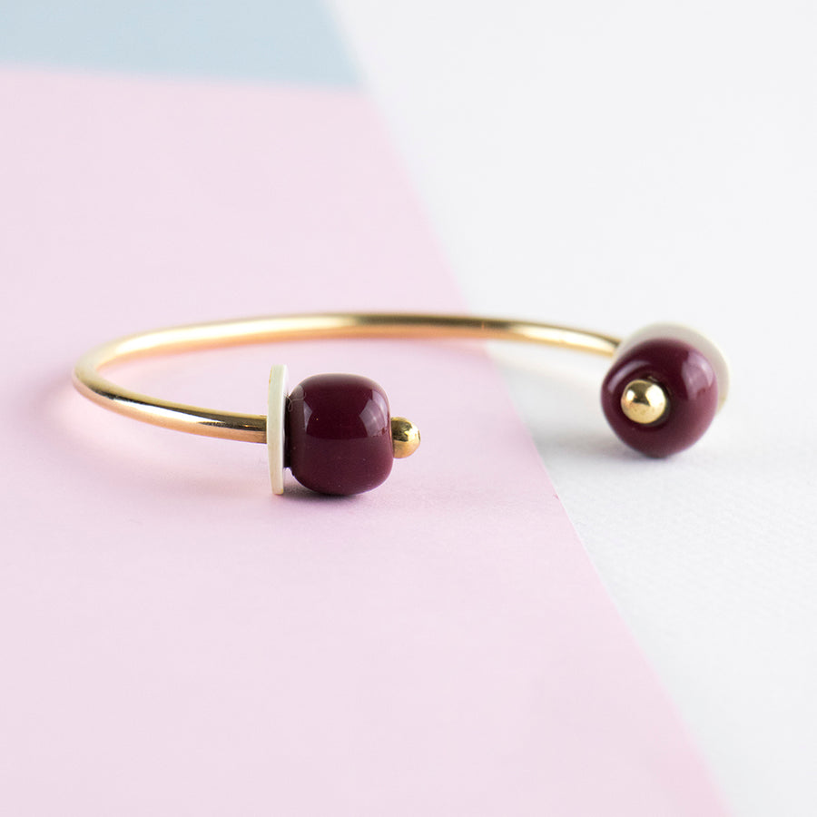 African Bangle Bordeaux Small