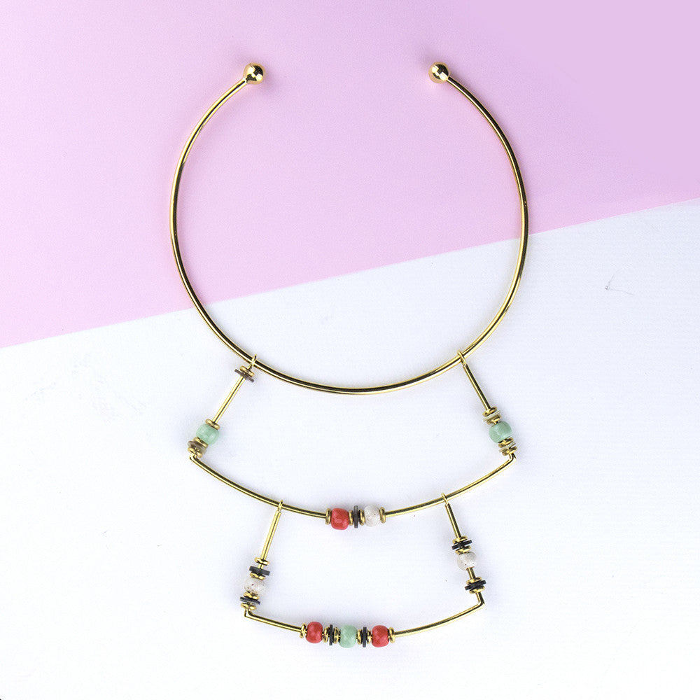 Collar necklace - fits a cool hippie outfit