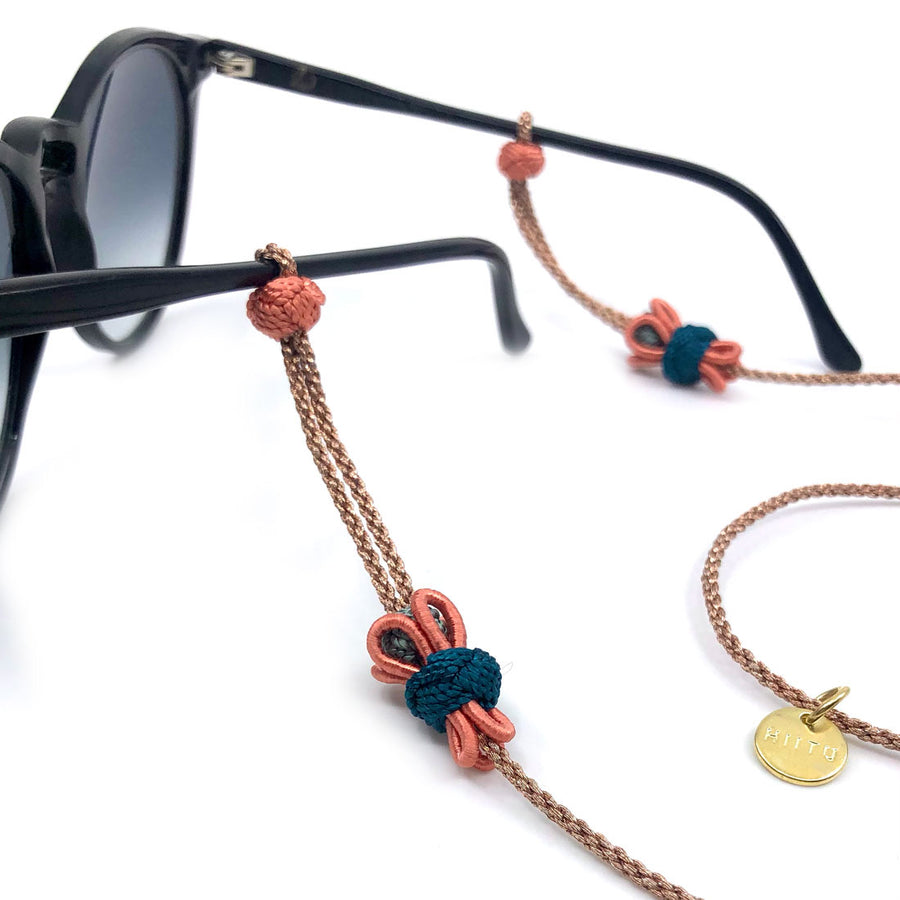 "Sunglass Strap Bronze/Multi ""Flower"""
