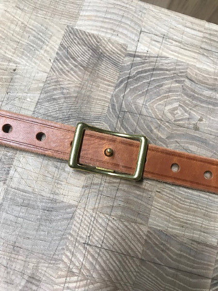 "Oiled Tan 2 point sling, 1"" wide."
