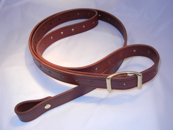 "Sale: 1"" Chestnut Rhodesian Slings with swivels."