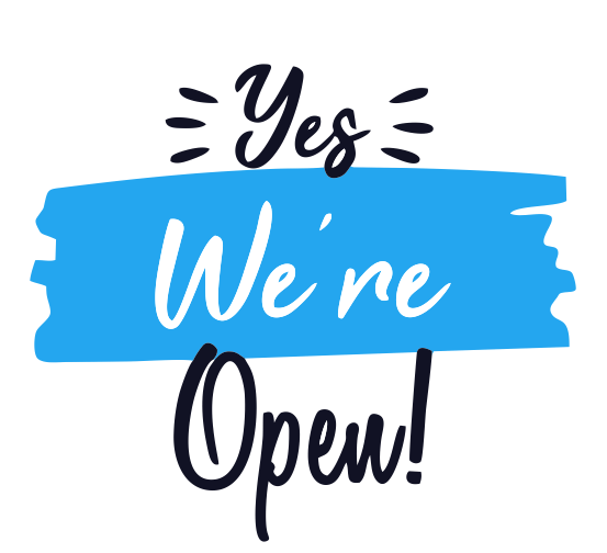 -We are open for business-