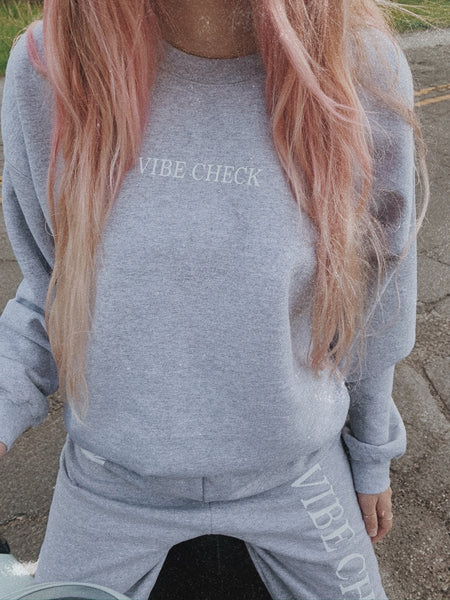 Vibe Check crewneck sweatshirt