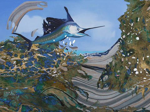 Jumping Sailfish 3 by Kim Parr