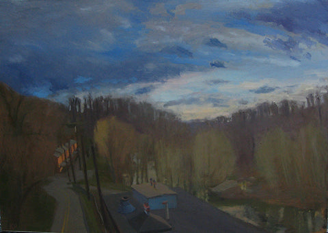 Oella Ave, Late Afternoon by Kim Parr