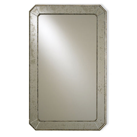 Antiqued & Wood Mirror