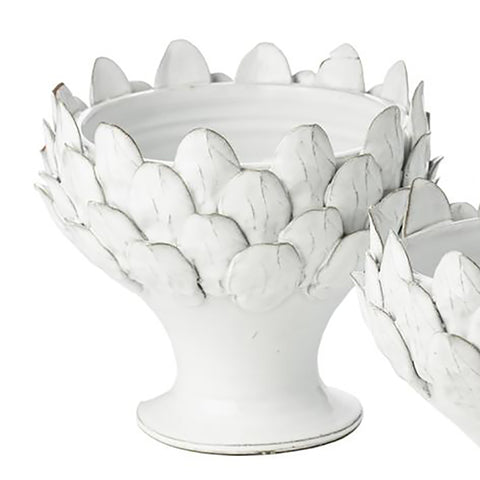Emery White Footed Centerpiece, Large