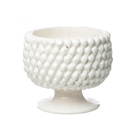 Carson White Ceramic Planter, Small