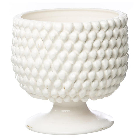 Carson White Ceramic Planter, Large