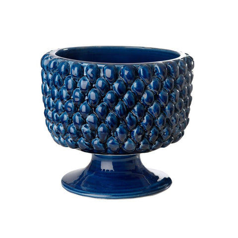 Carson Blue Ceramic Planter, Small