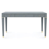 Emilie Desk, Gray & Brass