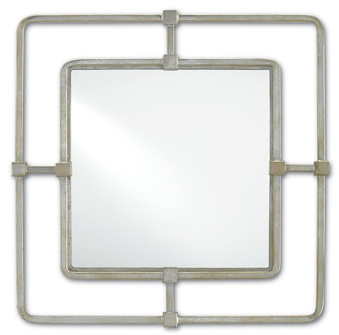 City Mirror, Silver, Square