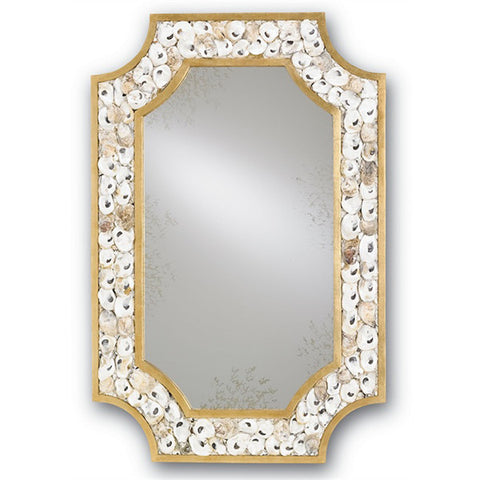Coastal Shell & Gold Leaf Mirror