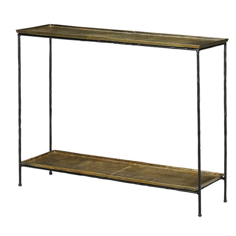 Quarry Console Table, Brass