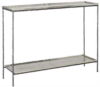Quarry Console Table, Silver