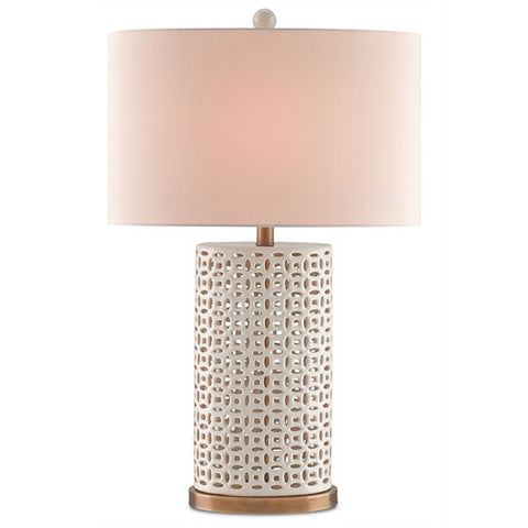 Creamy Ivory Ceramic Table Lamp