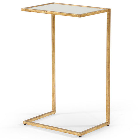 Mia End Table, Gold