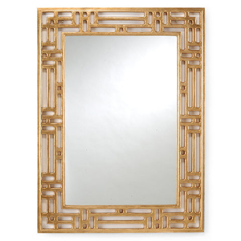 Pierced Mirror with Gold Finish by Chelsea House