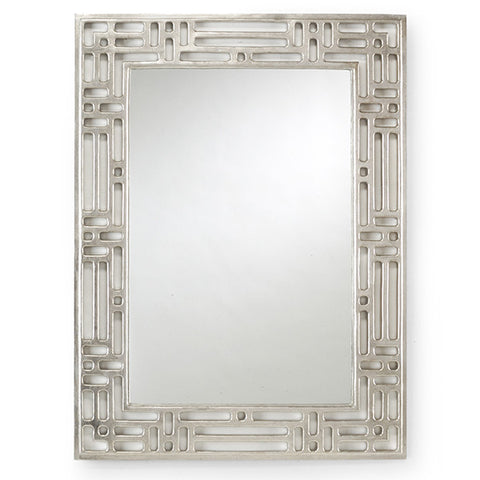 Pierced Mirror with Silver Finish by Chelsea House
