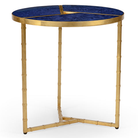 Bradshaw Side Table in Lapis by Chelsea House