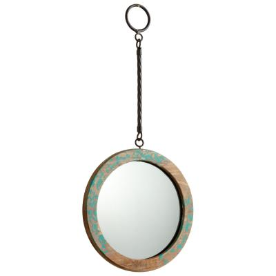 Hatter Mirror, Small, Antique Blue