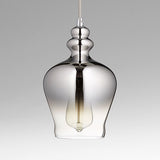 Calista Chrome Ombre Glass One Light Pendant by Cyan Design