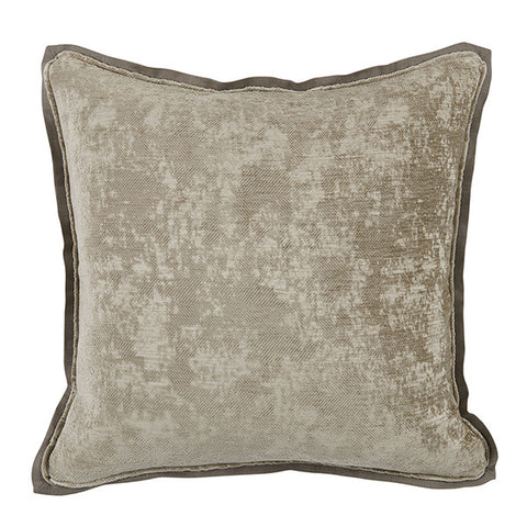 Lacefield Medici Nickel Antiqued Chenille Throw Pillow