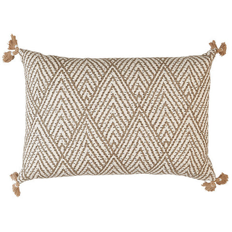 Lacefield Tahitian Stitch Tusk Lumbar Pillow With Tassels