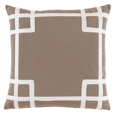 Judith Outdoor Pillow, Taupe