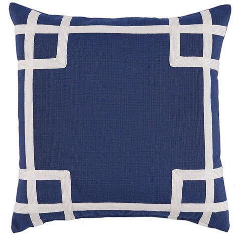 Judith Outdoor Pillow, Navy